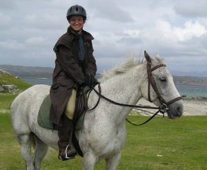 Sarah & Apollo riding in Ireland