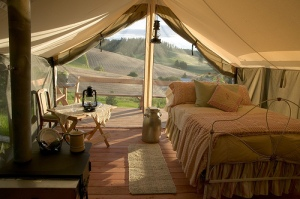 Glamping Tent at MaryJane's Farm